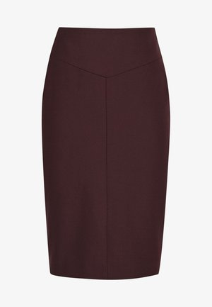 LISSIA  - Pencil skirt - dark red