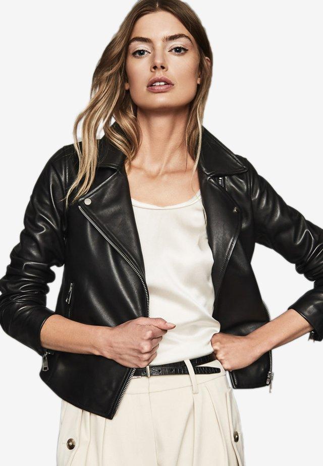 GEO - Leren jas - black