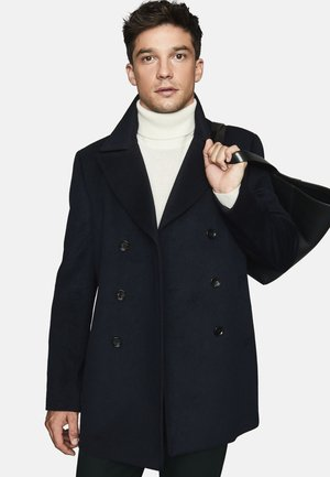 SACRO - Classic coat - navy blue