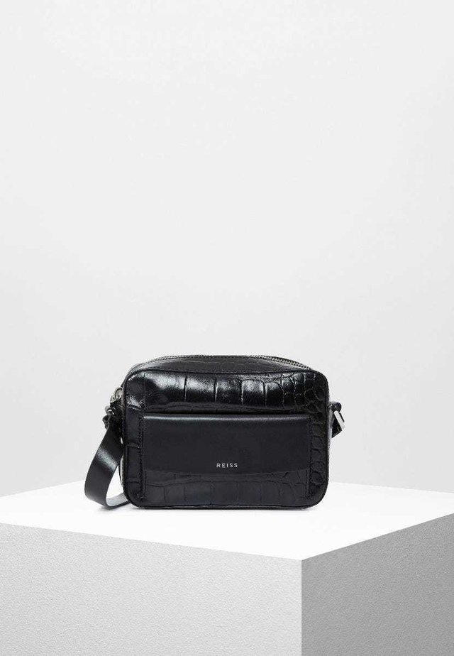 CROC ARCHIE  - Across body bag - black croc