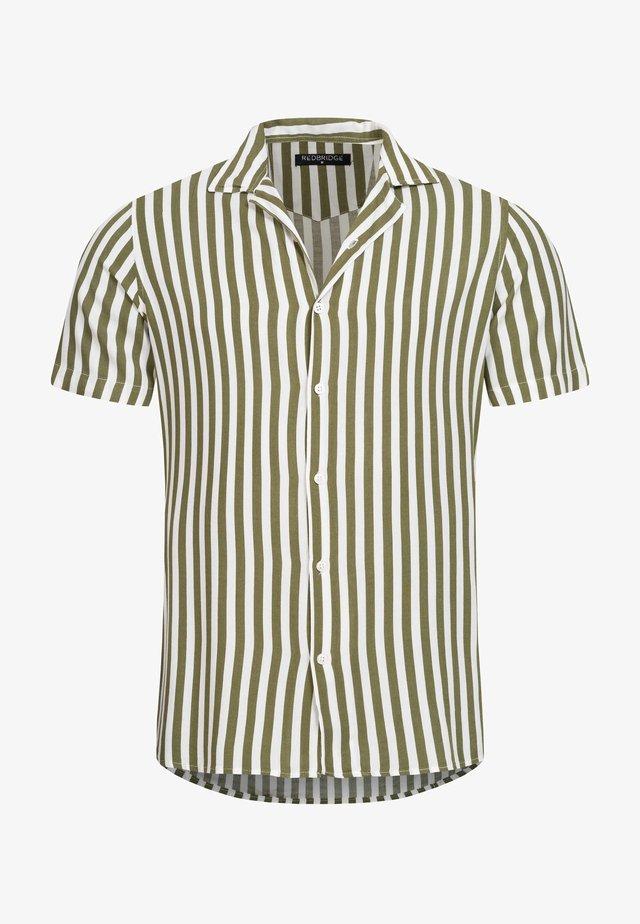 HEMD NEWARK GESTREIFT REGULAR FIT - Shirt - khaki