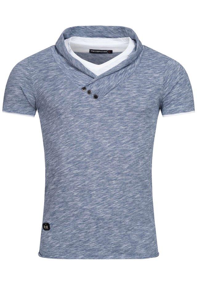 WASSERFALL - Print T-shirt - indigo