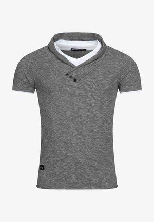 WASSERFALL - Print T-shirt - dunkelgrau