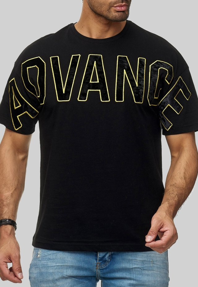 FRESNO BIG ADVANCE - Print T-shirt - schwarz