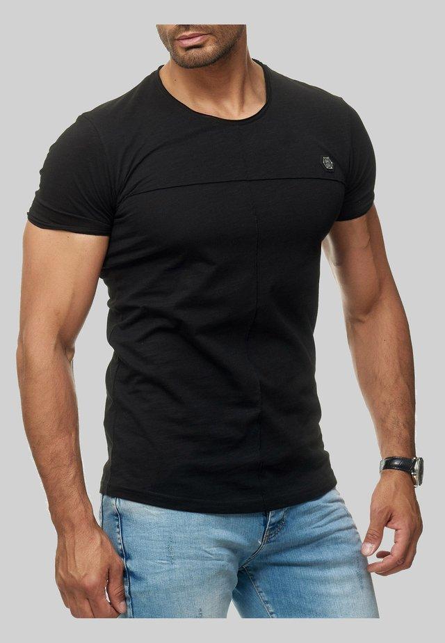 MIT BRANDLOGO - Print T-shirt - schwarz