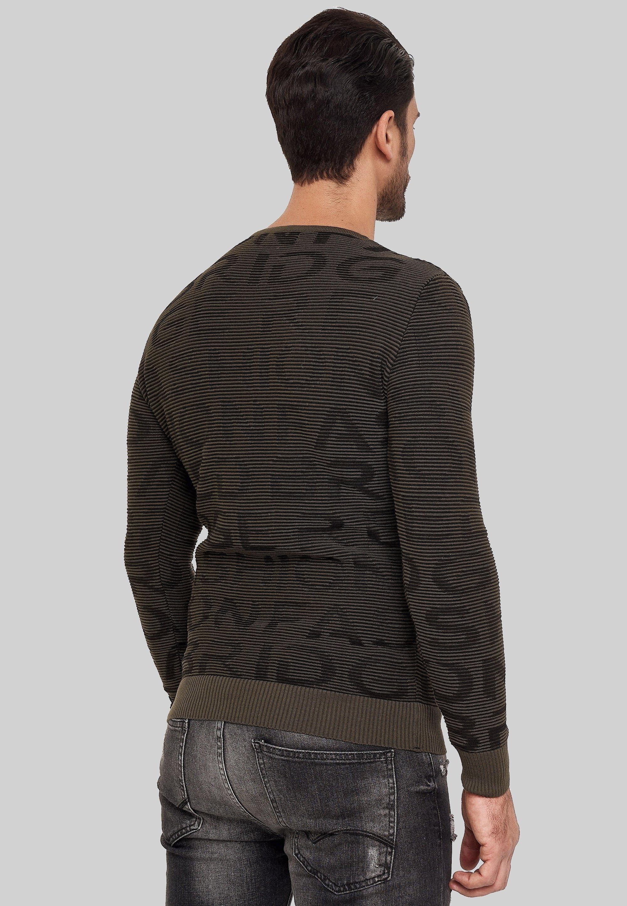Red Bridge Sweater - khakiblack  Heren Truien & vesten kITuR