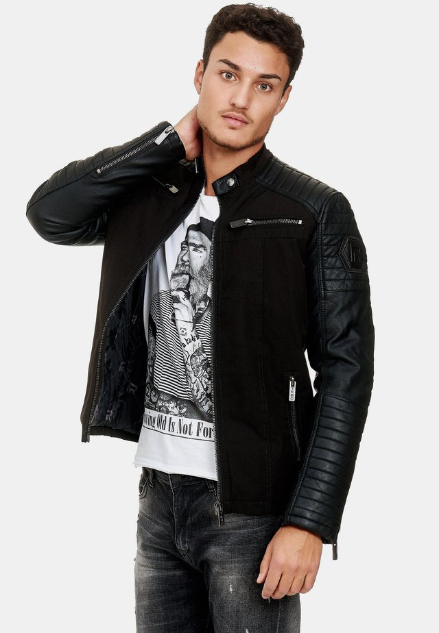 ROCKY - Faux leather jacket - black