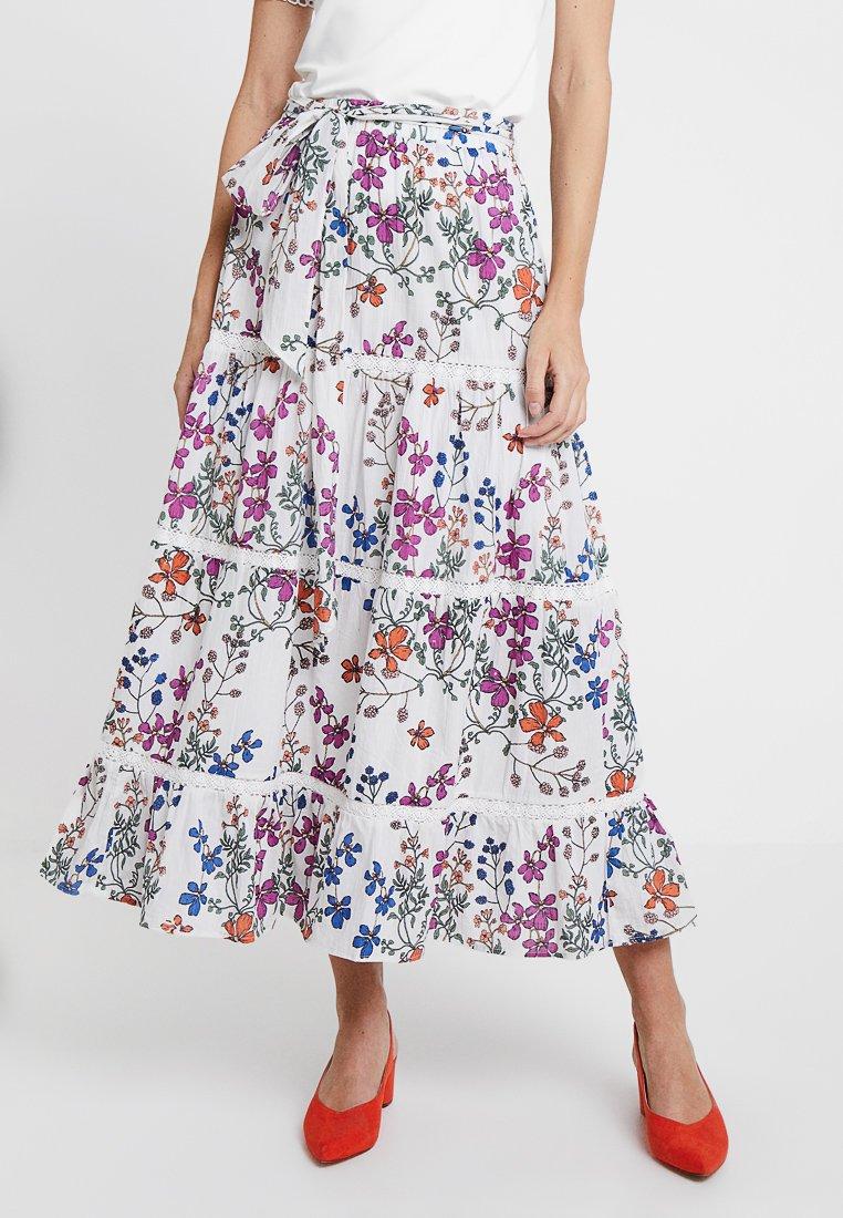 Derhy - LAMPION - Maxi skirt - off white