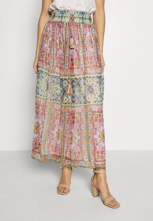 HAVRE - Maxi skirt - turquoise
