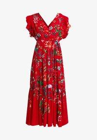 Derhy - FLAMENCO ROBE - Vestido largo - rouge - 4
