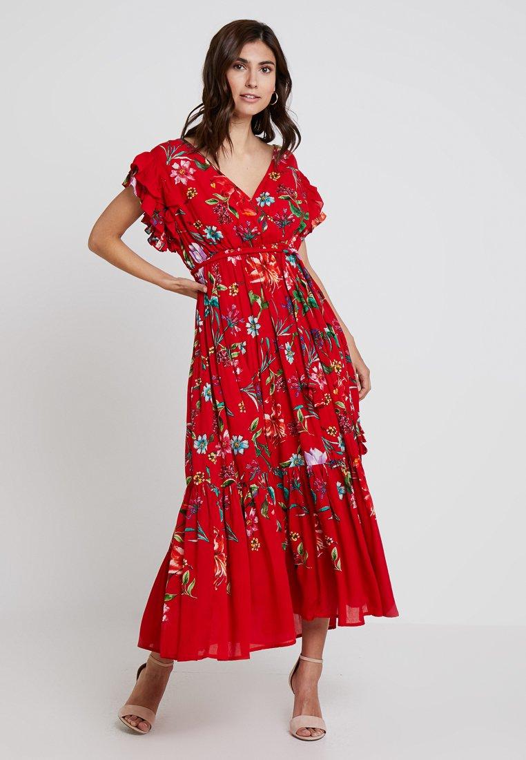 Derhy - FLAMENCO ROBE - Vestido largo - rouge