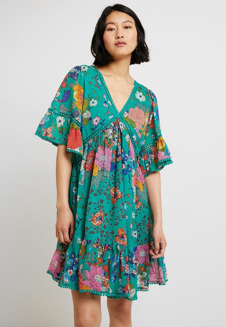 Derhy - FLORILEGE ROBE - Day dress - vert