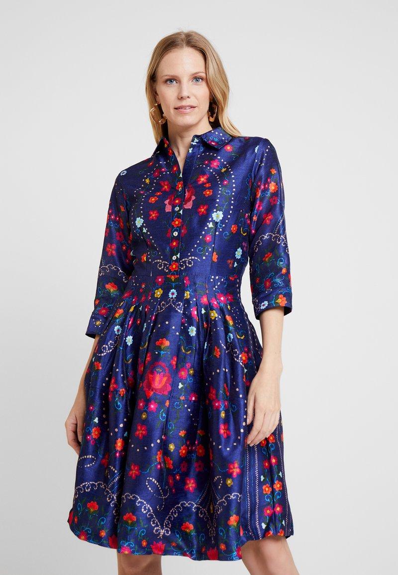 Derhy - BALANCELLE - Skjortekjole - blue
