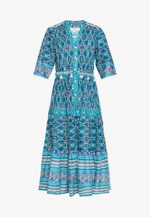 CALLIGRAPHIE - Robe longue - blue