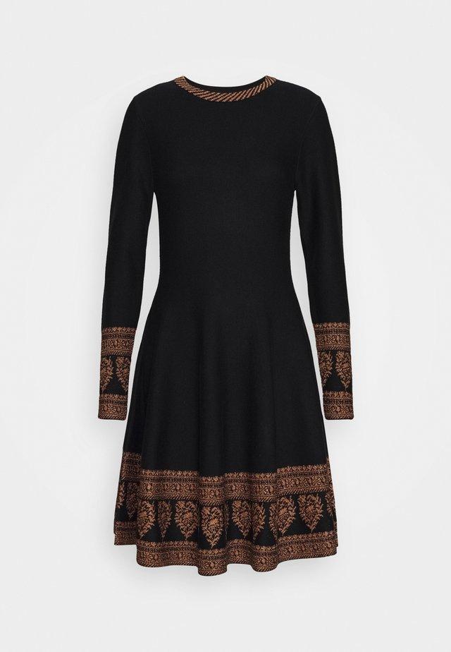 DANEMARK ROBE - Strikket kjole - black