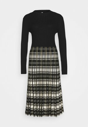 DALLAS ROBE - Strikket kjole - black