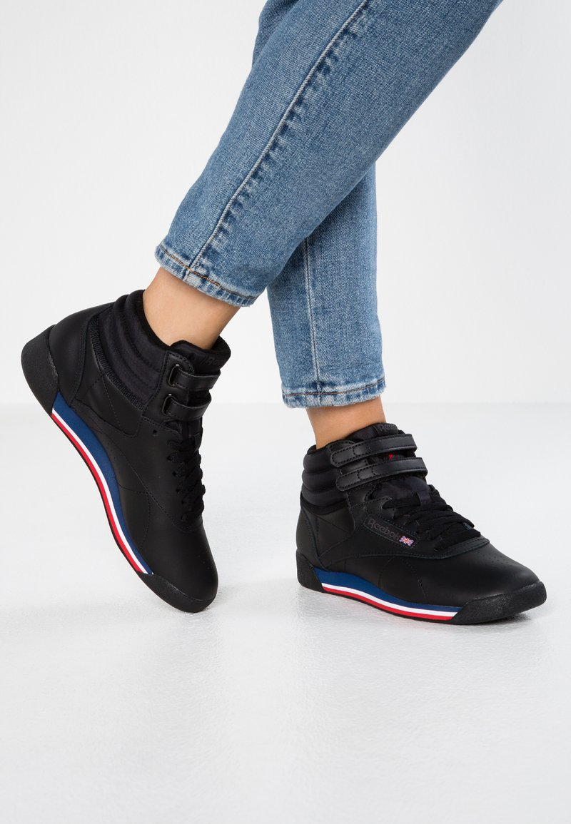 Reebok Classic - FREESTYLE - High-top trainers - black/white/blue/red/coal