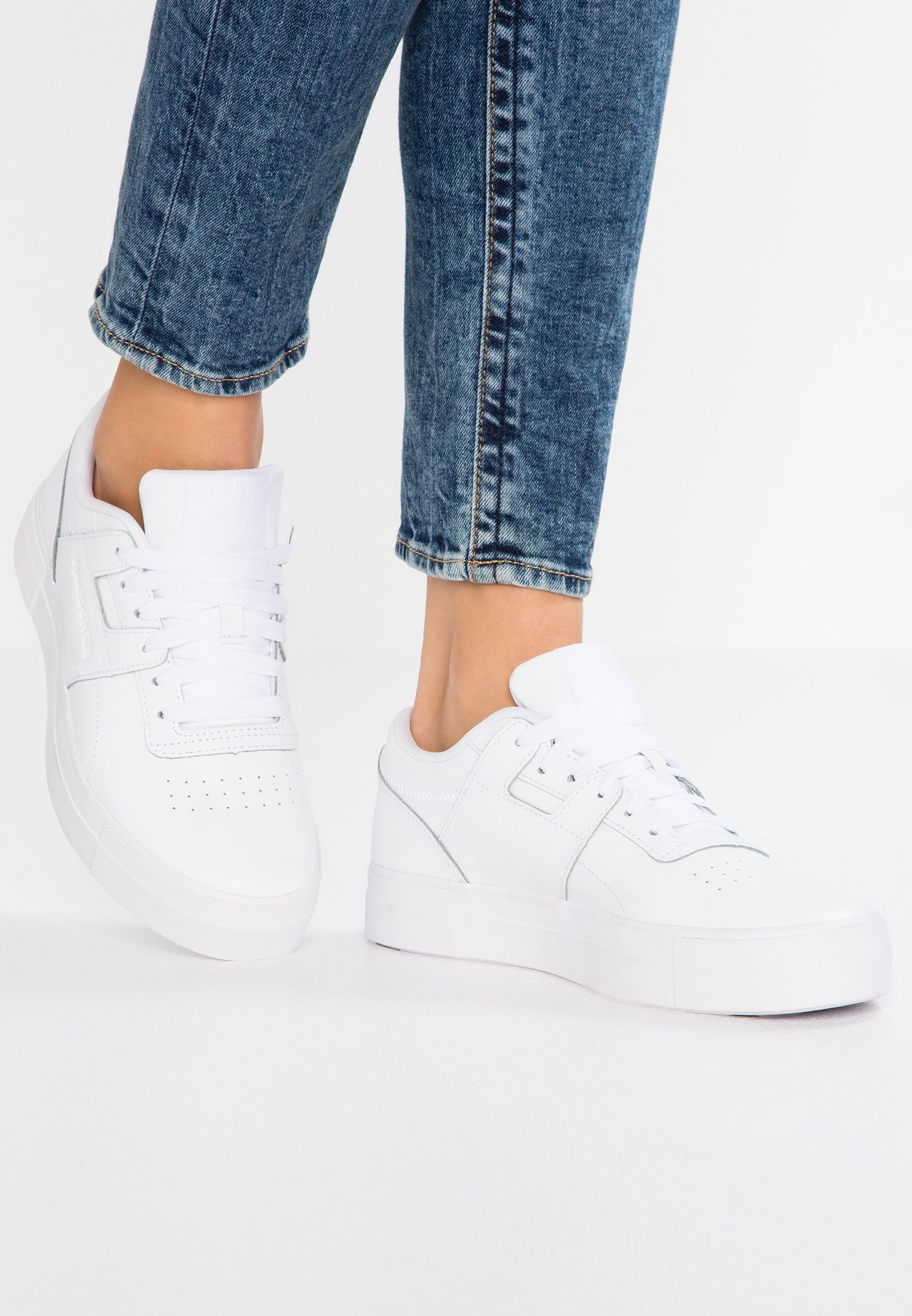 Reebok Classic WORKOUT - Sneakers basse basic white/skull grey