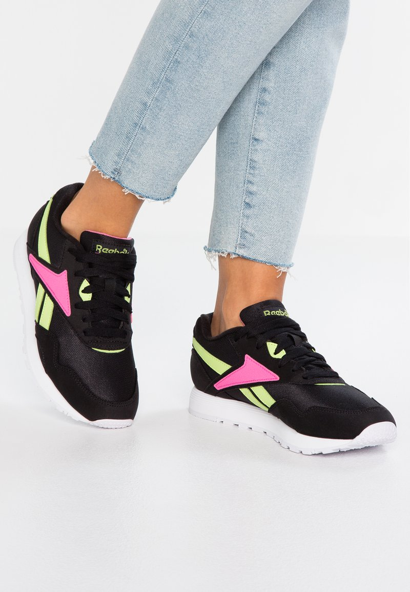 Reebok Classic - RAPIDE  - Sneakers basse - black/white/pink/lime