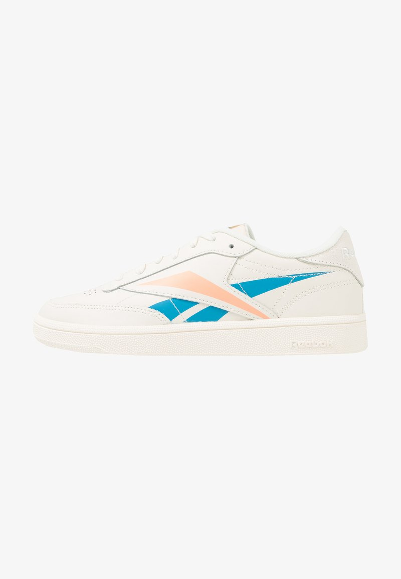 Reebok Classic - CLUB C 85 LIGHT LEATHER UPPER SHOES - Sneakers laag - chalk/cyan/sunglow