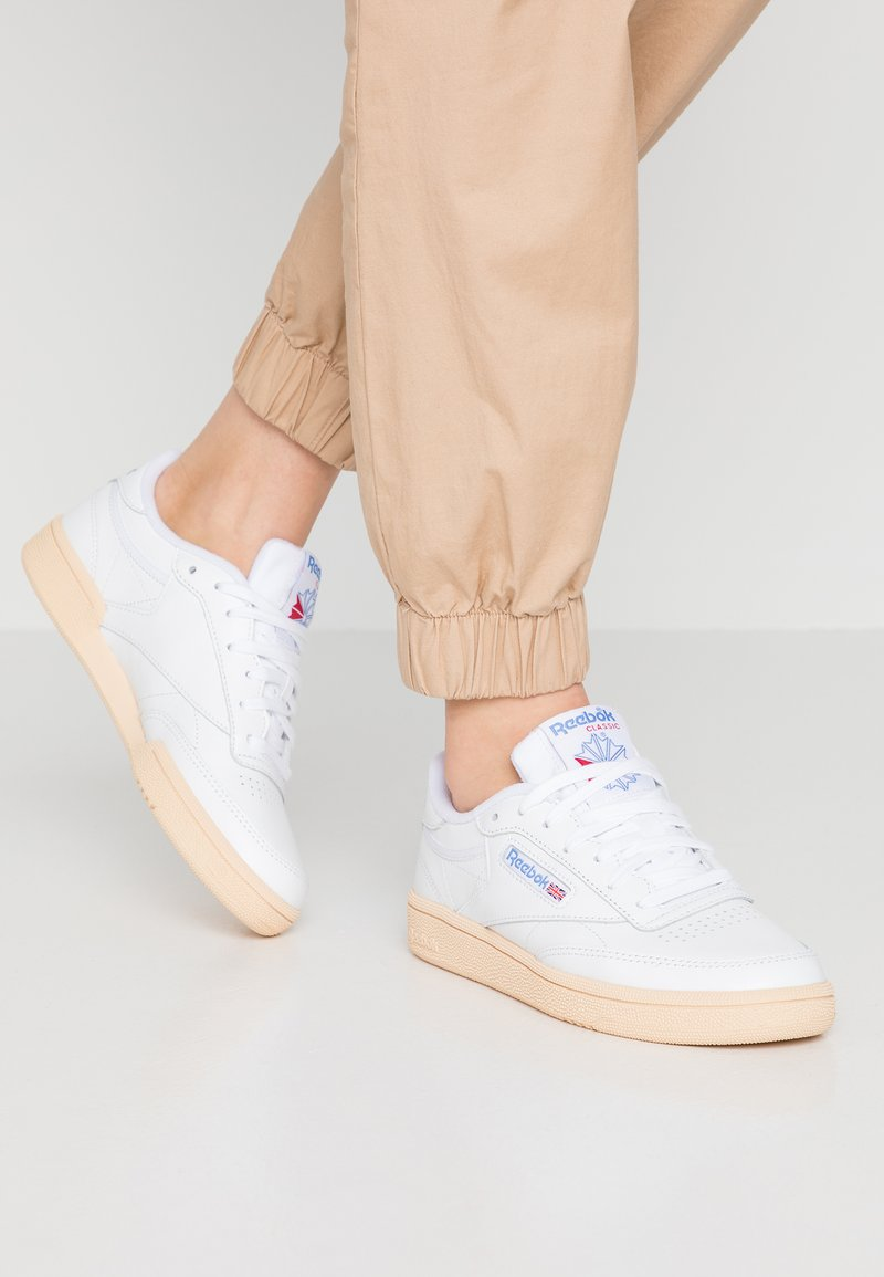 Reebok Classic - CLUB C 85 - Trainers - white/athletic blue/red