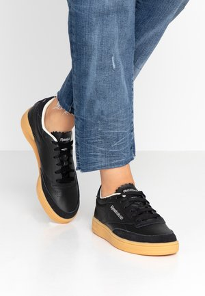 CLUB C 85 LIGHT LEATHER UPPER SHOES - Sneakers - black/silver metallic