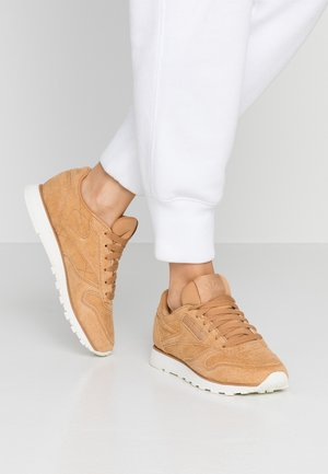 Trainers - soft camel/chalk