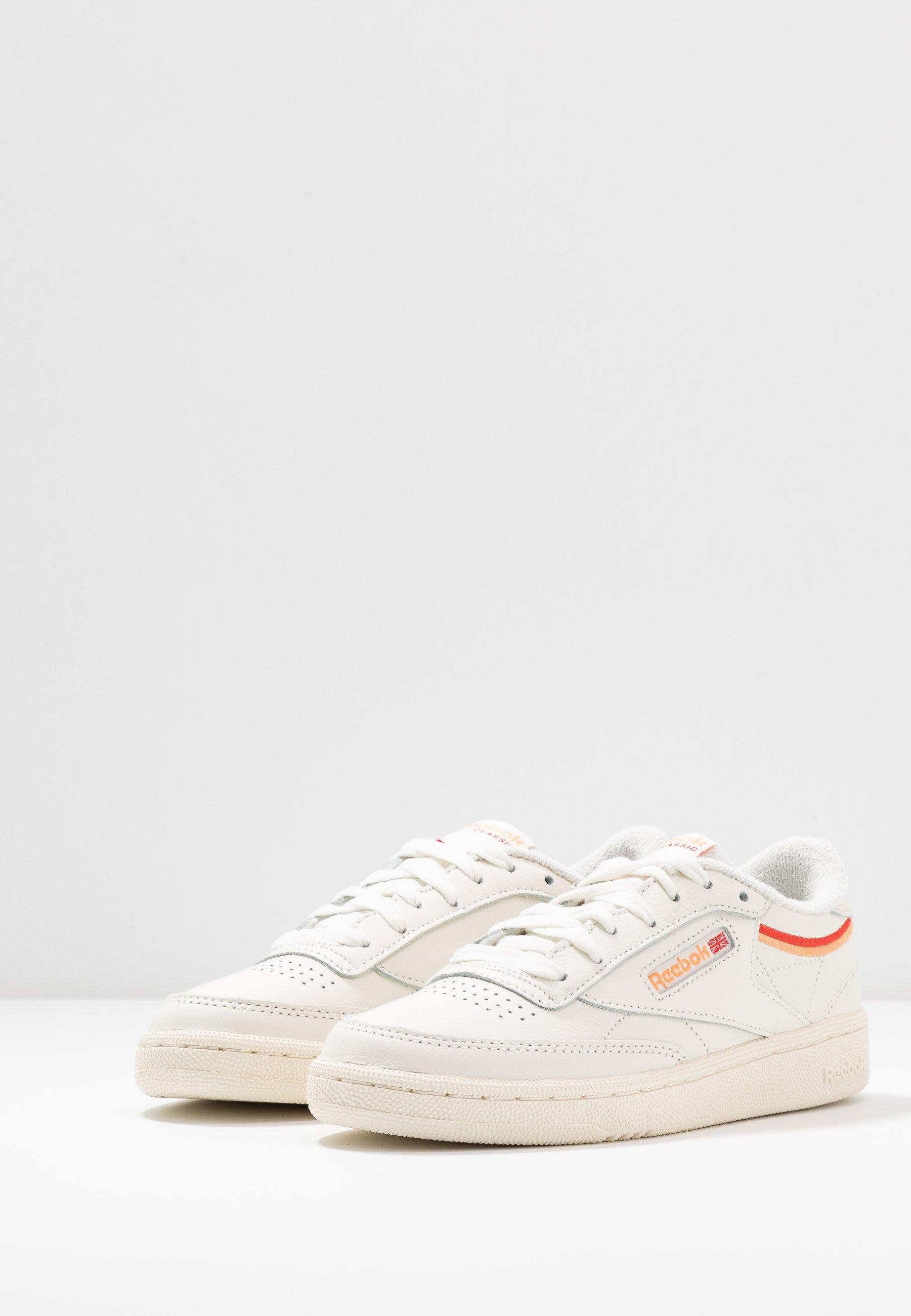 Reebok Classic Club C 85 - Sneakers Laag Chalk/sunrise Orange/radiant Red zyCYdSg