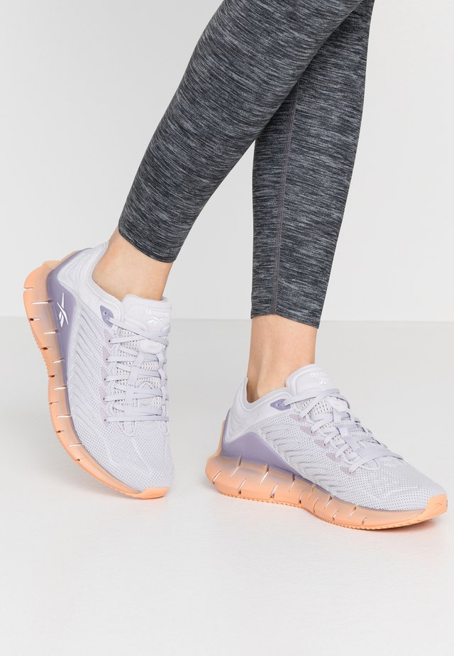 ZIG KINETICA - Joggesko - ste grey/violet haze/sun orange