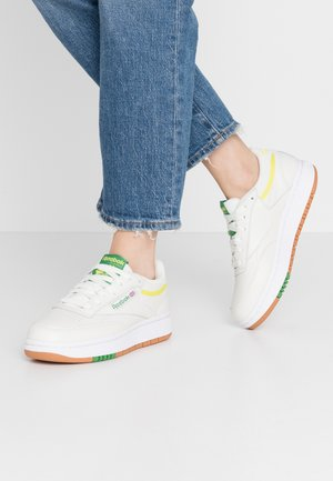 CLUB C DOUBLE - Zapatillas - chalk/hero yellow
