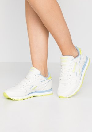 Sneakers laag - chalk/fluo blue/seso yellow
