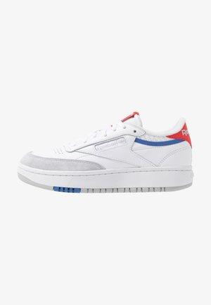 CLUB C DOUBLE - Sneakersy niskie - white/radred/grey