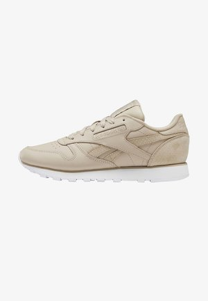 CLASSIC LEATHER SHOES - Baskets basses - beige