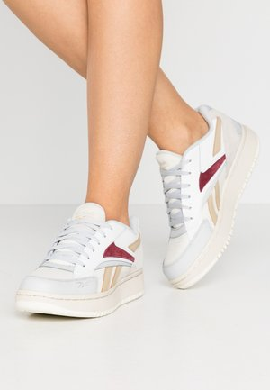 COURT DOUBLE MIX - Sneakers laag - pure grey/chalk/merlot