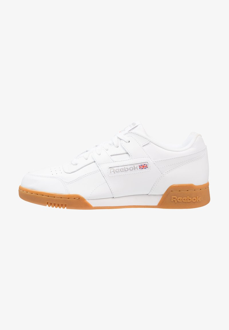 Reebok Classic - WORKOUT PLUS - Matalavartiset tennarit - white/carbon/red/roya