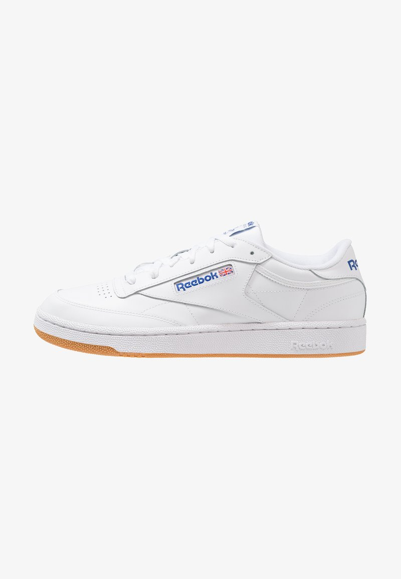 Reebok Classic - CLUB C 85 LEATHER UPPER SHOES - Trainers - white/royal