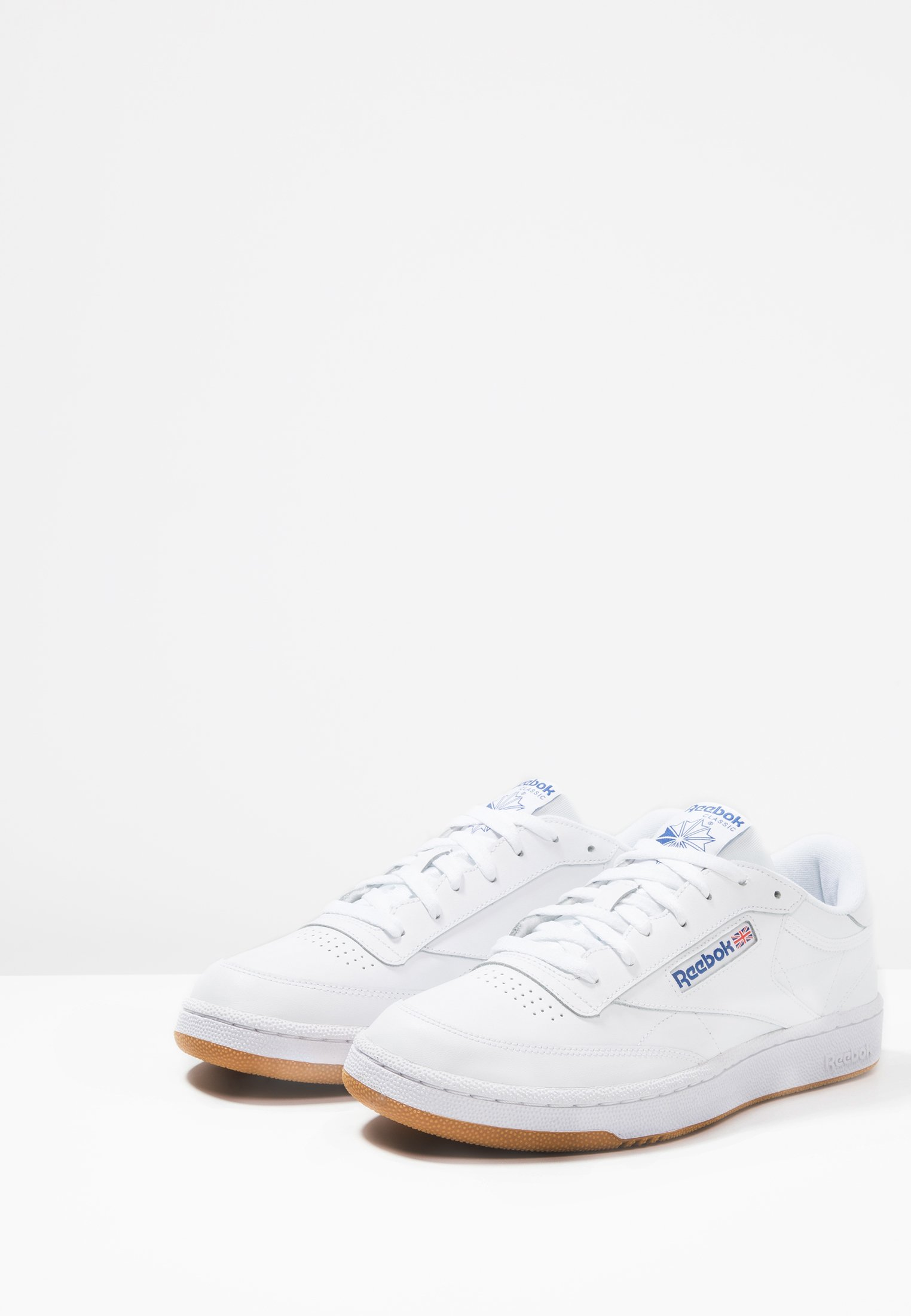 Reebok Classic Club C 85 Leather Upper Shoes - Sneakers White/royal