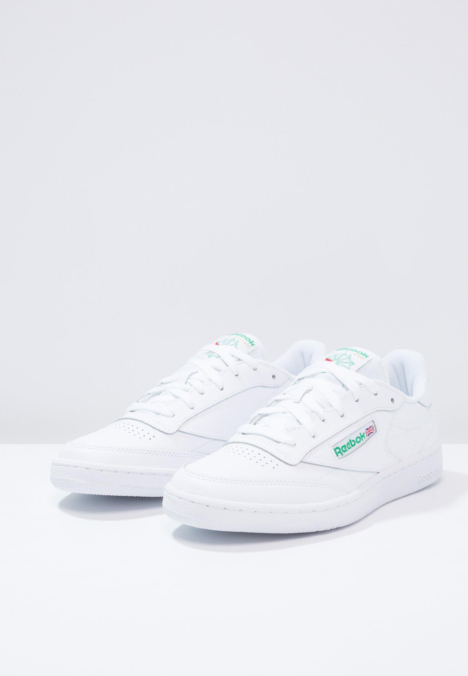 Club Reebok Upper Leather White Classic 85 Basse green C ShoesSneakers bYf6y7vIg