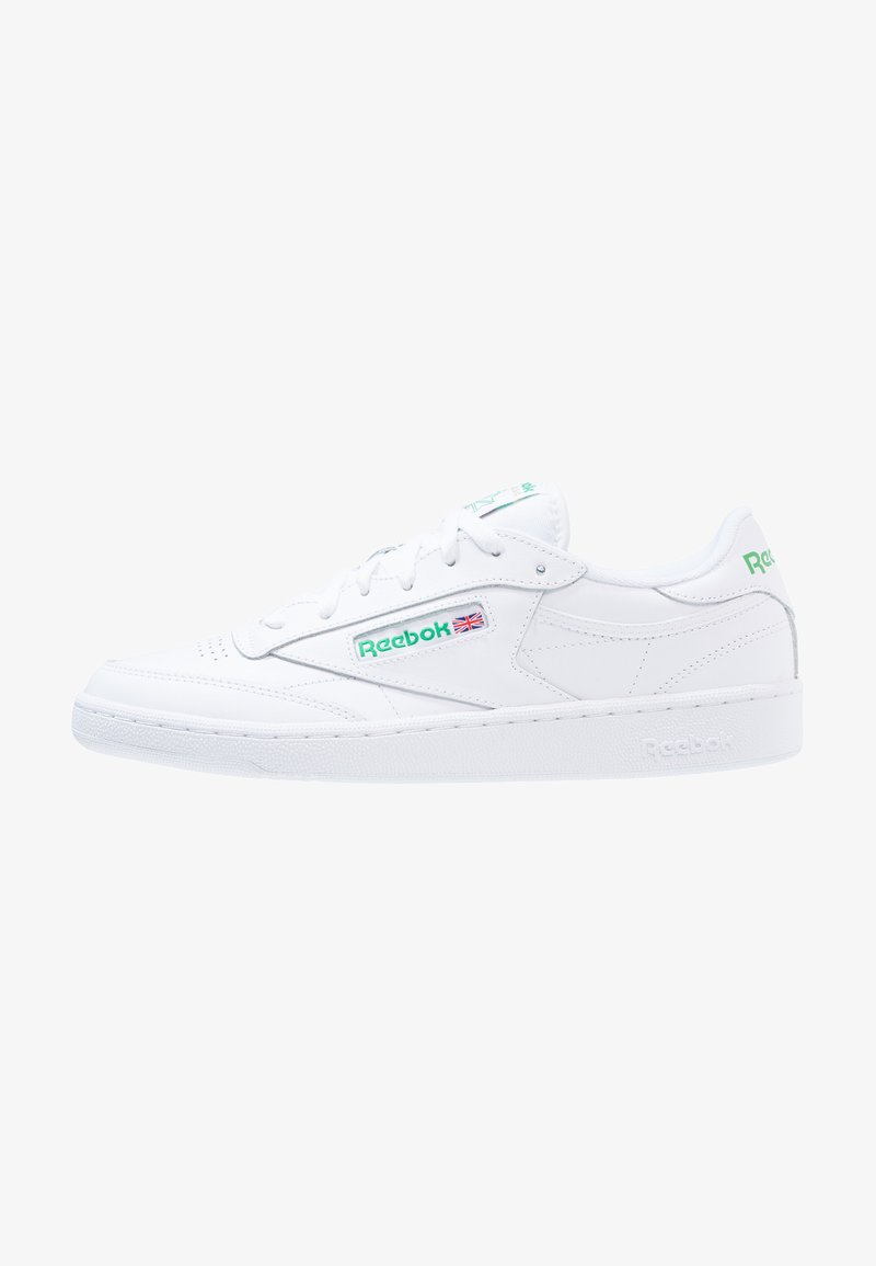 Reebok Classic - CLUB C 85 LEATHER UPPER SHOES - Trainers - white/green