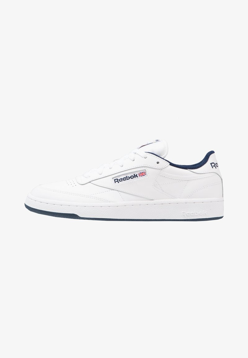 Reebok Classic - CLUB C 85 LEATHER UPPER SHOES - Sneakers - white/navy