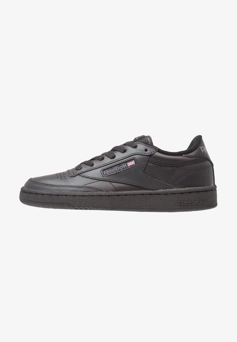 Reebok Classic - CLUB C 85 LEATHER UPPER SHOES - Trainers - black/charcoal