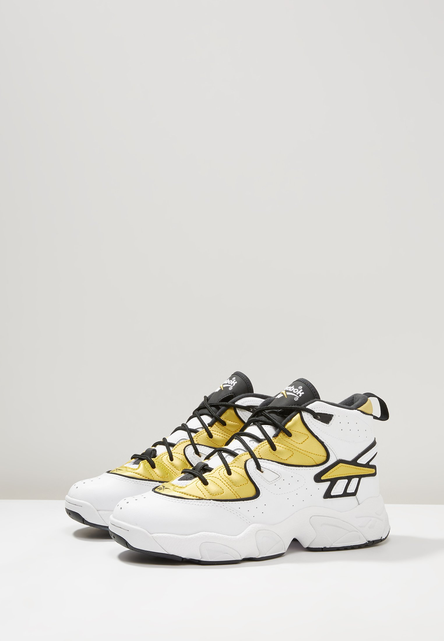 Reebok Classic AVANT GUARD TRANSITION BRIDGE SHOES - Sneakersy wysokie - white/gold metallic/black