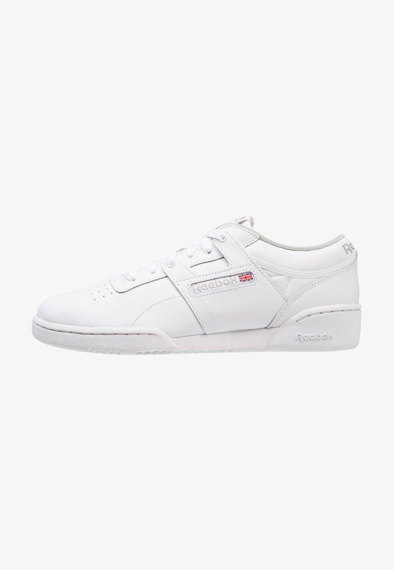 Reebok Classic - WORKOUT L OW - Matalavartiset tennarit - white/grey