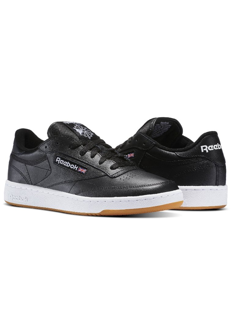Reebok Classic CLUB C 85 - Sneakers - intense black/white-gum