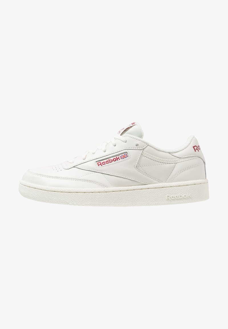 Reebok Classic - CLUB C 85 - Matalavartiset tennarit - chalk/meteor red