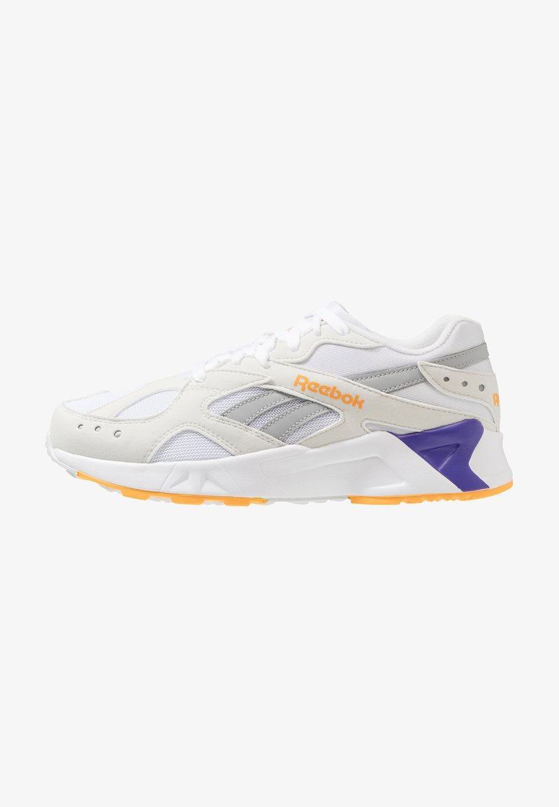 Reebok Classic - AZTREK - Trainers - white/true grey/gold/purple