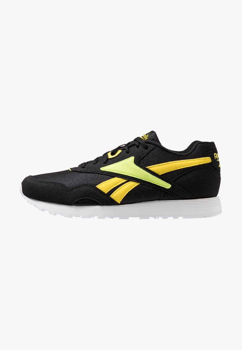 Reebok Classic - RAPIDE - Sneakers - black/yellow/neon lime
