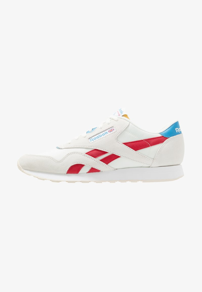 Reebok Classic - NYLON LIGHTWEIGHT RUBBER OUTSOLE SHOES - Trainers - chalk/scarlet/cyan/white