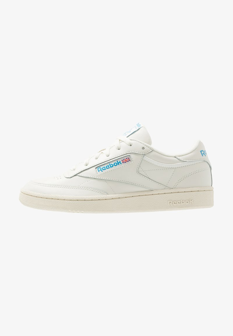 Reebok Classic - CLUB C 85 LEATHER UPPER SHOES - Sneakers basse - chalk/paperwhite/cyan