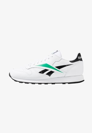 VECTOR LEATHER SHOES - Joggesko - white/black/emerald